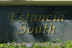 Estancia South community sign
